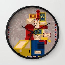 Postman's Post-er poster Wall Clock