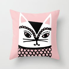 Katze #2 Throw Pillow