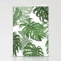 palms Stationery Cards featuring Monstera Deliciosa by Laura O'Connor