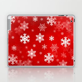 Light Red Snowflakes Laptop & iPad Skin
