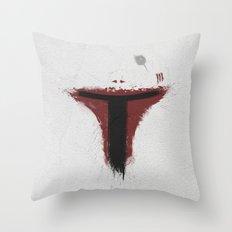 Boba Paint Throw Pillow