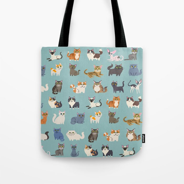 cats tote bag by lilichin society6. Black Bedroom Furniture Sets. Home Design Ideas