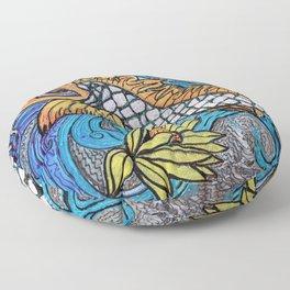 Glitter Fish Floor Pillow