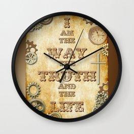 Bible Verse Steampunk Way Truth Life Wall Clock