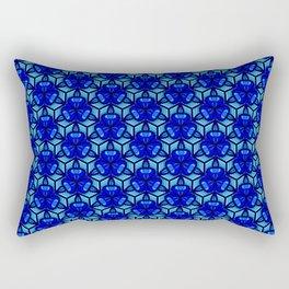 Deep Blue Sea Bell Flower Geometric Blue Under the Sea 3D Design Spirit Organic Rectangular Pillow
