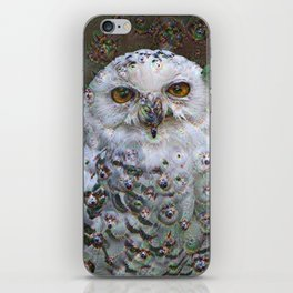 Dream Creatures, Snowy Owl, DeepDream iPhone Skin