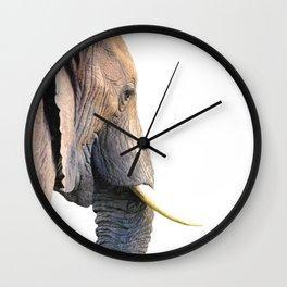 Elephant portrait Wall Clock