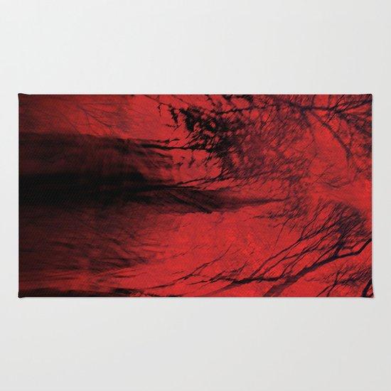 Blood red sky Rug