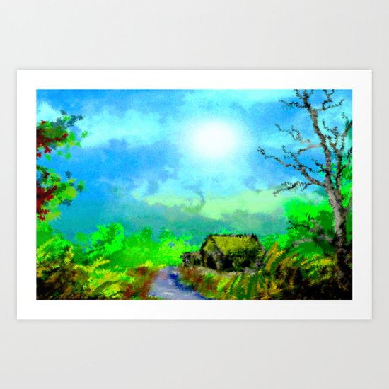 Deep in the natural landscape. Art Print
