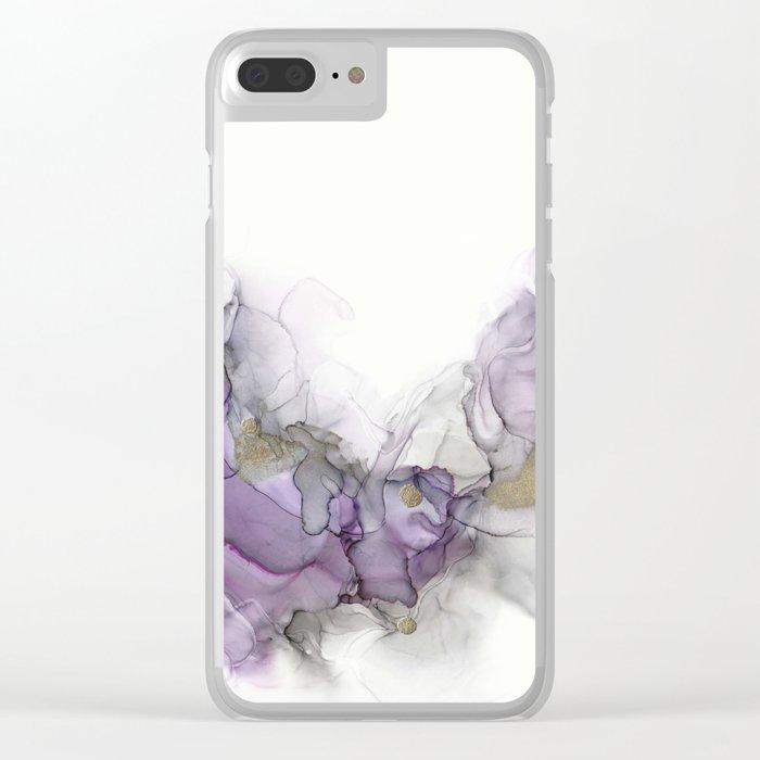 Study in Purple Clear iPhone Case