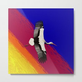 Sunset Gull Metal Print