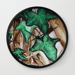 Ivy Leaf Growing Acrylic Painting Wall Clock