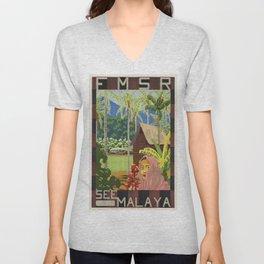 Vintage poster - Malaya Unisex V-Neck