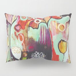 """""""Release Become"""" Original Painting by Flora Bowley Pillow Sham"""