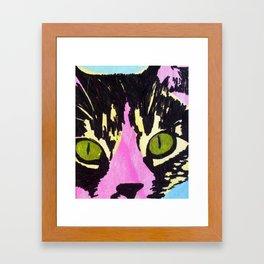 Pop Art Cat No. 1 Framed Art Print