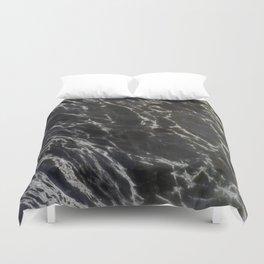 MIDNIGHT BLACK MARBLE Duvet Cover