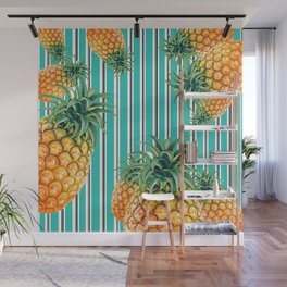 Pineapples right Wall Mural