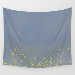 Abstract speckled background - grey and yellow Wall Tapestry