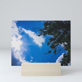 Tree Tops and Sky Mini Art Print