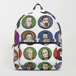 Portraits of Important Scientists Backpack