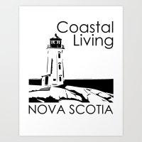 Coastal Living, Nova Scotia Art Print