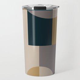 Geometeric Neutral Minimal Travel Mug