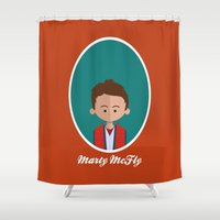 marty mcfly Shower Curtains featuring Marty McFly by Juliana Motzko