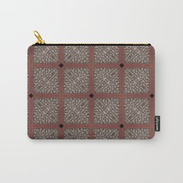 Rich Silver Wood Stone Textured Patten Abstract Carry-All Pouch