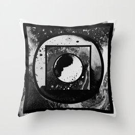 Abstract Geometric Studies In Black And White Throw Pillow