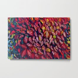 Flowers of the Red Tree, Crimson King Tree by Seraphine Louis Metal Print