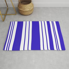 Royal Blue Stripes Rug