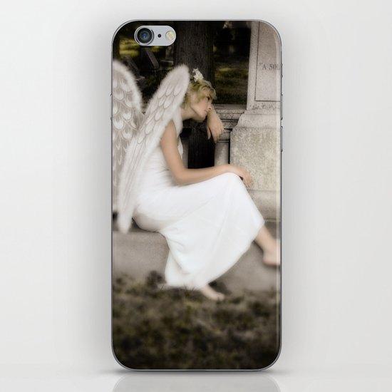 A Guardian Angel graveside iPhone & iPod Skin
