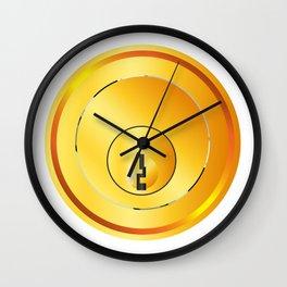 Brass Front Door Lock Wall Clock