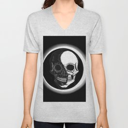 Eclipsed Skull Unisex V-Neck