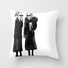 mary-kate n ashley 4 eva Throw Pillow