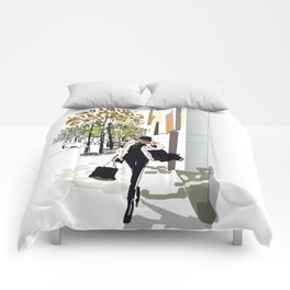 Autumn Girl Comforters