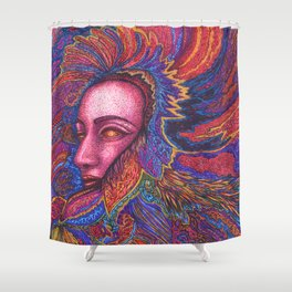 Queen of Feathers Shower Curtain