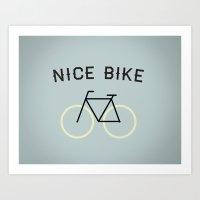 Nike Bike! 2.0 Art Print