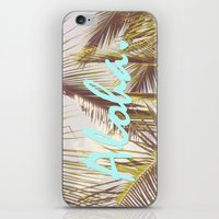 aloha iPhone & iPod Skins featuring ALOHA by The Pixel Gypsy