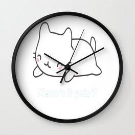 Cute _ Funny Cat Pun Wall Clock