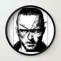 jesse pinkman Wall Clocks featuring Breaking Bad - Jesse Pinkman by Aaron Campbell