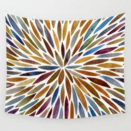 Watercolor Burst – Retro Palette Wall Tapestry