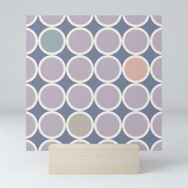 Scalloped Circles in Lilac Mini Art Print