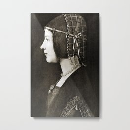 Bianca Sforza by Leonardo da Vinci Metal Print