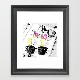 Social view Framed Art Print