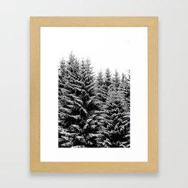 snowy christmas TREES Framed Art Print