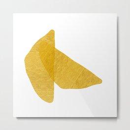 Gold Abstract XV Bowls Metal Print