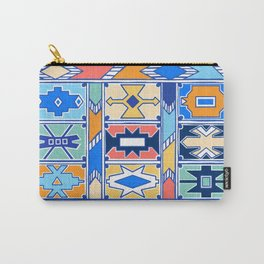 Colorful Ndebele Pattern Carry-All Pouch