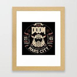 Doom - Fight Hell Framed Art Print