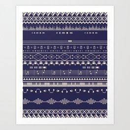 Native Groovy Art Print